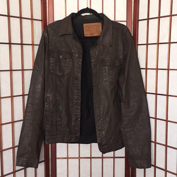 a9ca7ef8 Zara men's waxed Denim jacket. M_5aaac5d78df470e35b6d9629